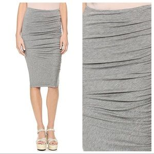 AIR BY ALICE + OLIVIA Grey Side Gathered Skirt